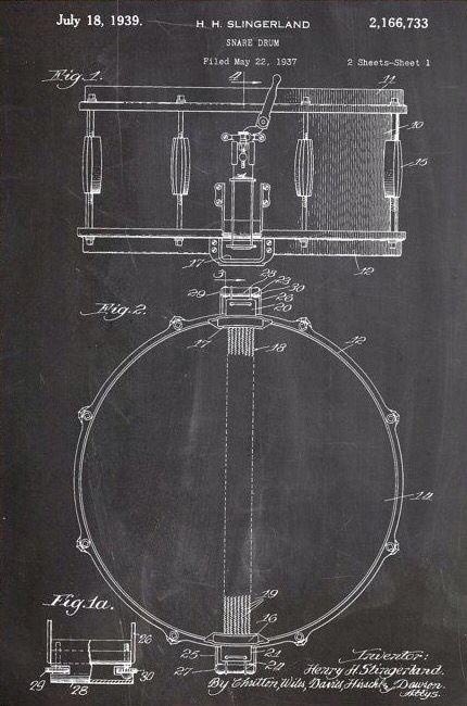Snare drum blueprint | Post No Bills | Pinterest | Snare ...