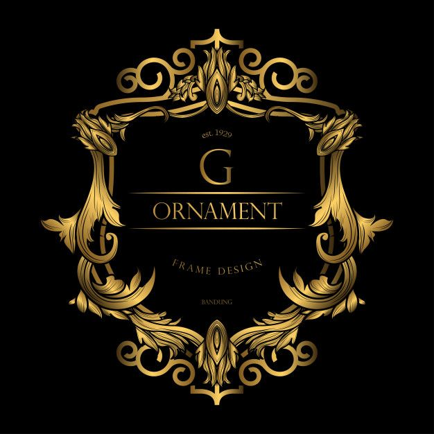 Frame Luxury With Golden Color Luxury Logo Design Luxury Logo
