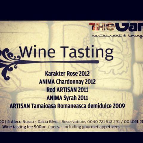 WineTesting@TheGangRestaurant.Bucharest!