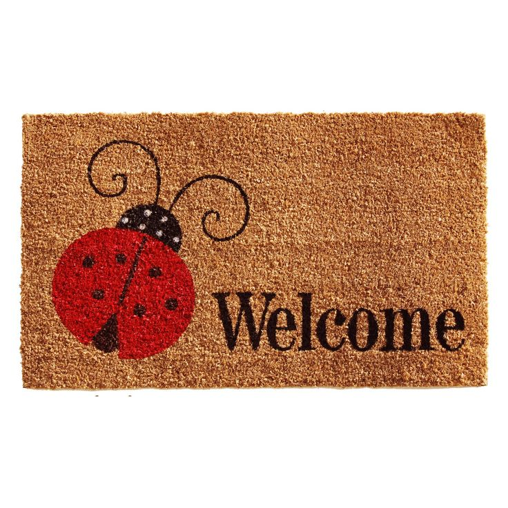 Home & More Ladybug Welcome Outdoor Doormat - 121431729
