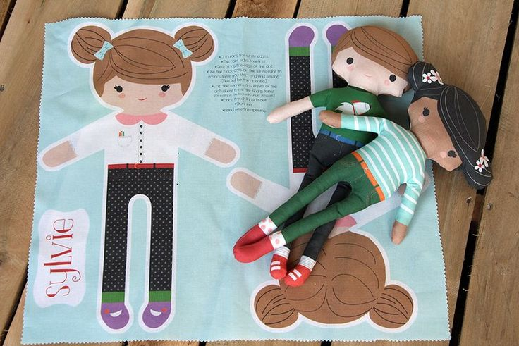 How to create your own cut & sew dolls (even if you're not a designer).