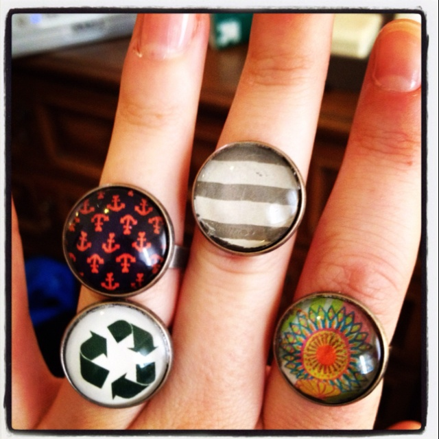 A few new rings. Made by Ashley Blankenship.