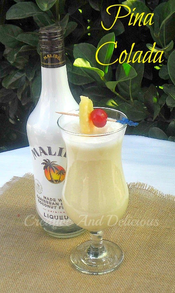 Delicious tropical cocktail ~ enjoy as is, or try the non-alcoholic version ! #PinaColada #CocktailRecipe #AlcoholicDrink #NonAlcoholicVersion