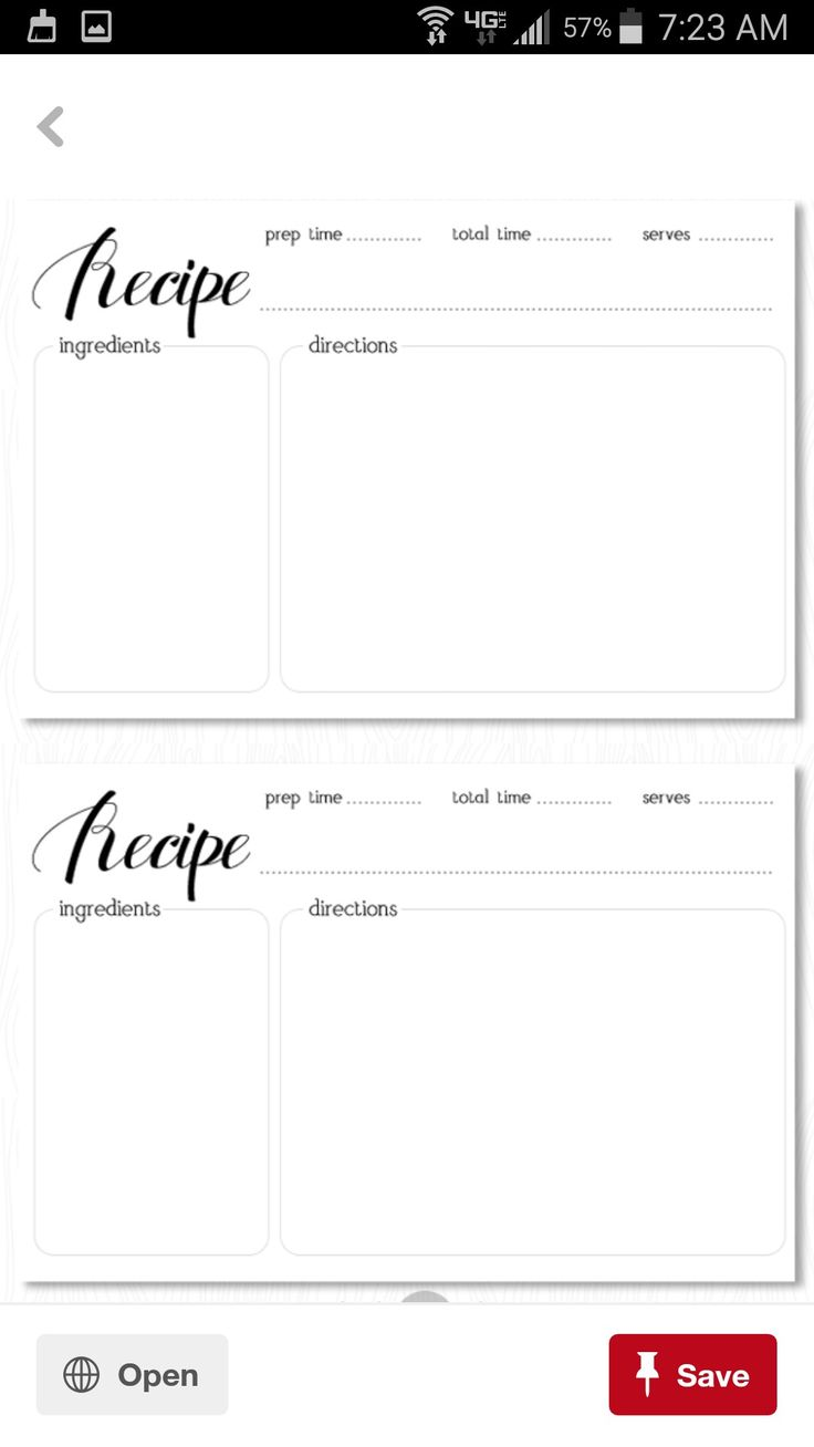 7 Best Recipe Cards Images On Pinterest Printable Recipe Cards
