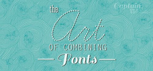 The art of combining fonts #typography #type #tips