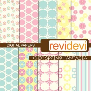 Digital scrapbook papers in soft colors.  These digital papers are great for teachers and educators for creating their school and classroom projects such as for background for bulletin, announcement, learning worksheet, craft materials, cards, paper goods, and for more fun projects.