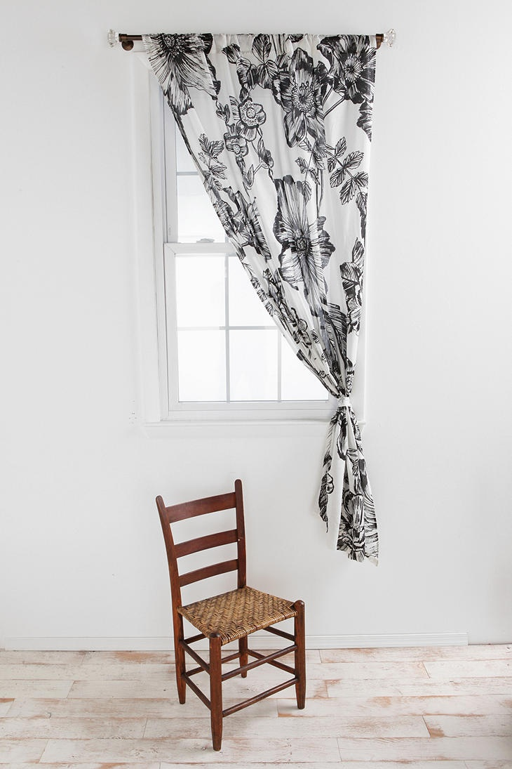 black and white curtains for dining room