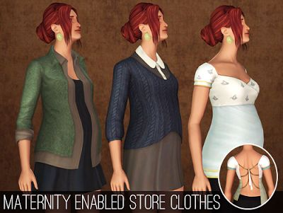My Sims 3 Blog: Maternity Enabled Store Clothes by Chisimi