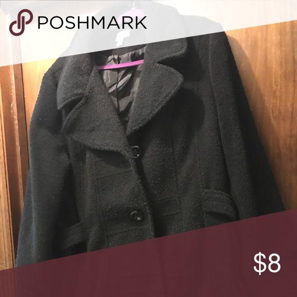 Pea coat Black pea coat by dress barn Dress Barn Jackets & Coats Pea Coats