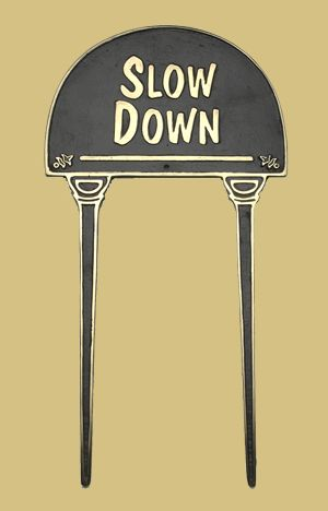 Lawn Sign - Slow Down - Lawn Signs - Plant-Veg-Herb Labels - Garden Planters & Accessories - Garden & Outdoor Living - Catalogue  | Black Country Metal Works
