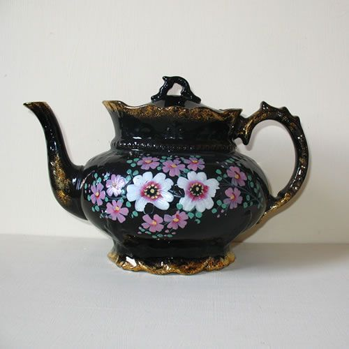 Image Detail for - Black Victorian Teapot