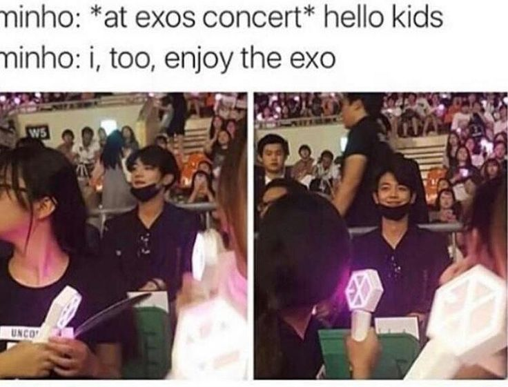 lmao I love seeing idols supporting other idols - even more so when they're from different companies!