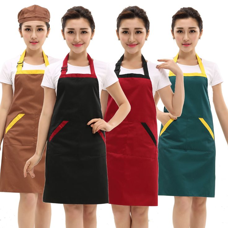 2016 hot apron kit bib apron cartoon long sleeve cuff waterproof aprons gowns suits for men and women