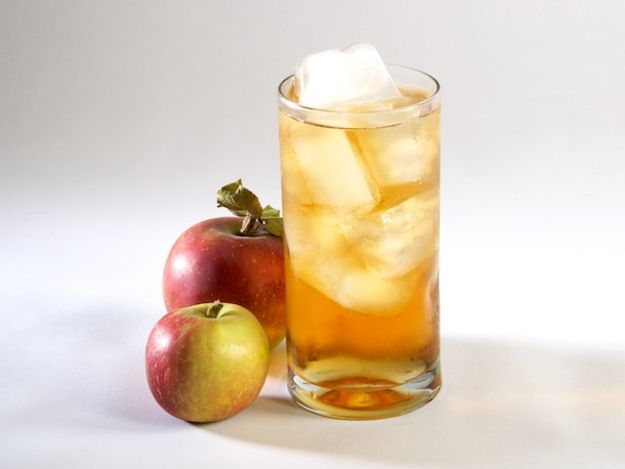 Bourbon and applejack are mixed with maple syrup and hard cider to make a sweet sipping cocktail that is slightly effervescent.