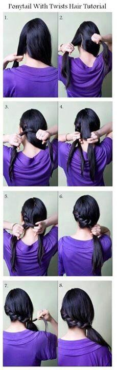 Gedraaide vlecht #DIY #Hair