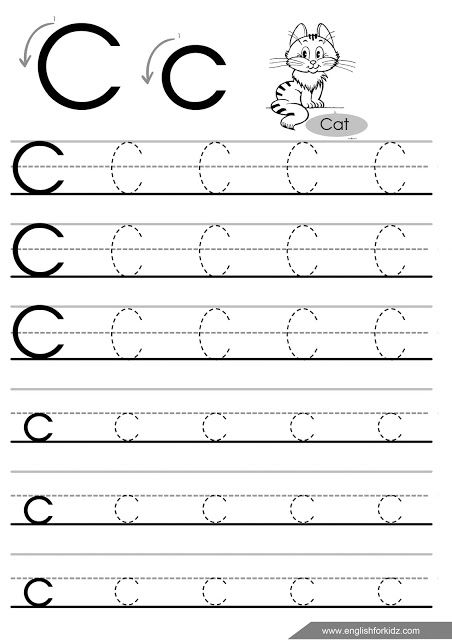 letter c tracing worksheet for esl teachers worksheets for learning english letter tracing. Black Bedroom Furniture Sets. Home Design Ideas