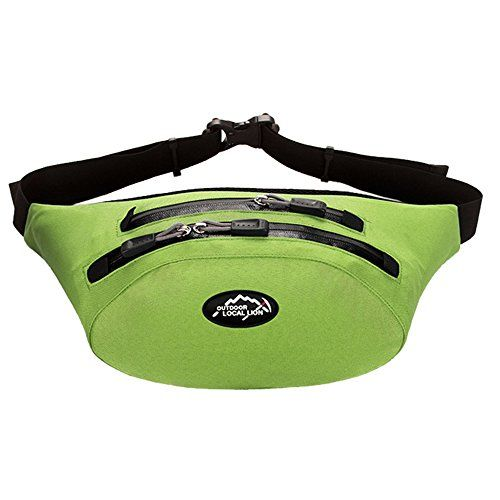Meanhoo Extreme Waterproof Fanny Pack for unisex with Zipper Pockets Water Bottle Holder and Cell Phone Pouch  Fanny Pack for Hiking Cycling Climbing Travel  Green >>> Continue to the product at the image link.