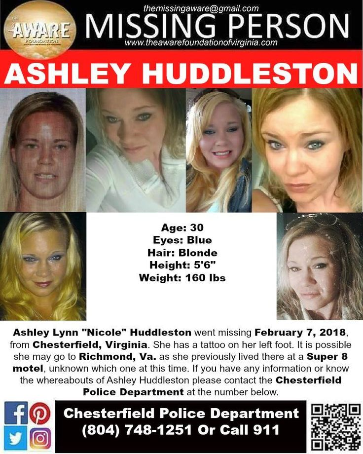 Find Missing Ashley Lynn Huddleston!