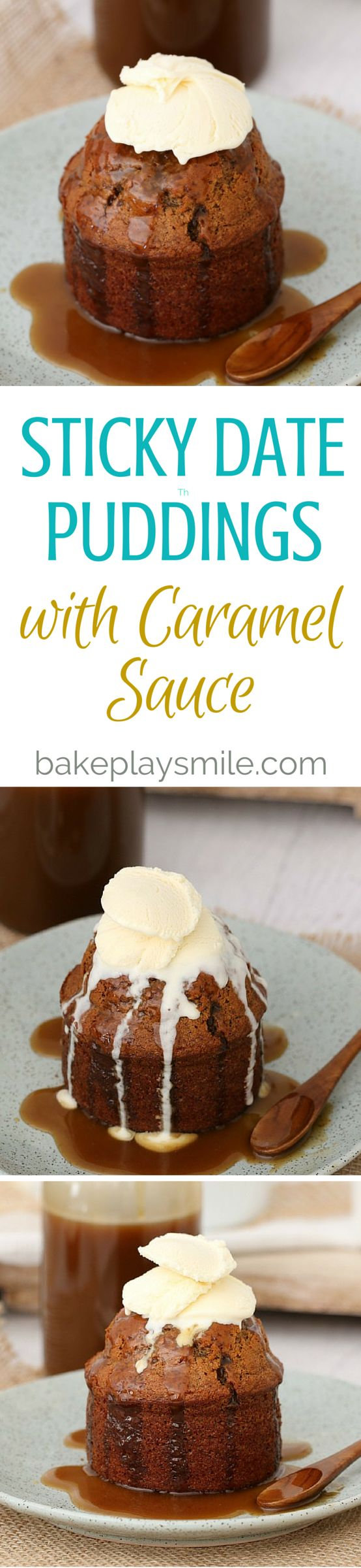 Easy Sticky Date Puddings with Caramel Sauce - Conventional Method