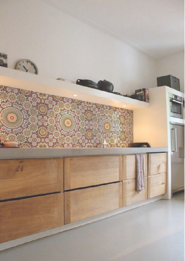 The best patterned tiles and wallpaper ideas for your kitchen | Home Design Ideas
