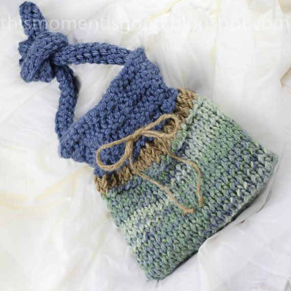 Knitting Pattern For A Peg Bag : Loom Knit Handbag Pattern. Quick and Easy Loom Knitting ...