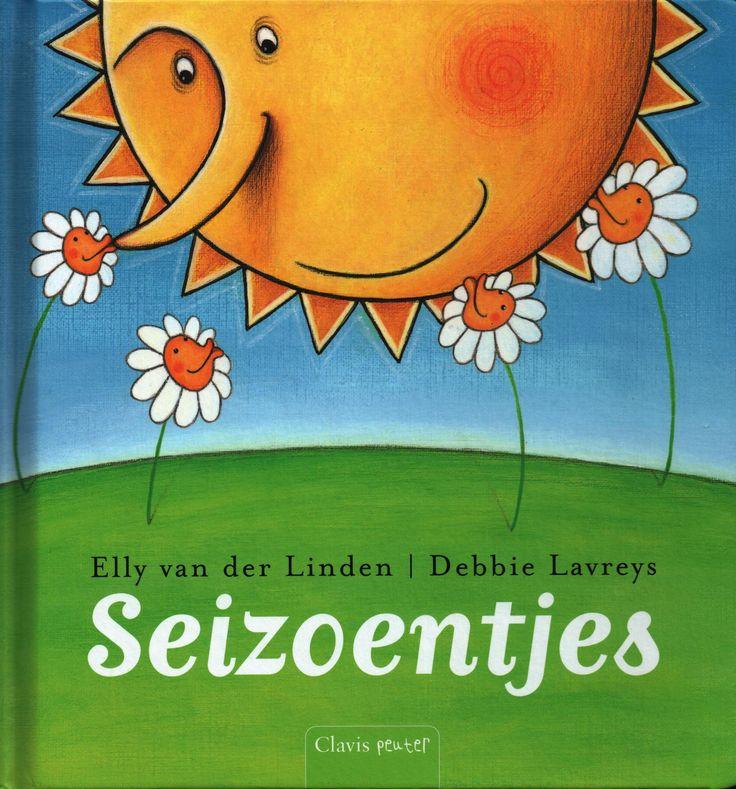 Seizoentjes; auteur Elly van der Linden; illustrator Debbie Lavreijs; uitgever Clavis; versjesboek met versjes met verschillend moeilijkheidsgraad 2 - 6 jaar. Versjes sluiten aan bij feesten en gebeurtenissen in de vier seizoenen