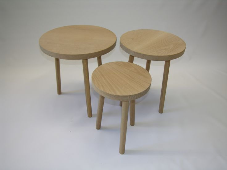 american oak side tables ,handmade ,bondi design, @chriscolwelldesign
