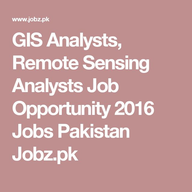 GIS Analysts, Remote Sensing Analysts Job Opportunity 2016 Jobs - gis analyst sample resume