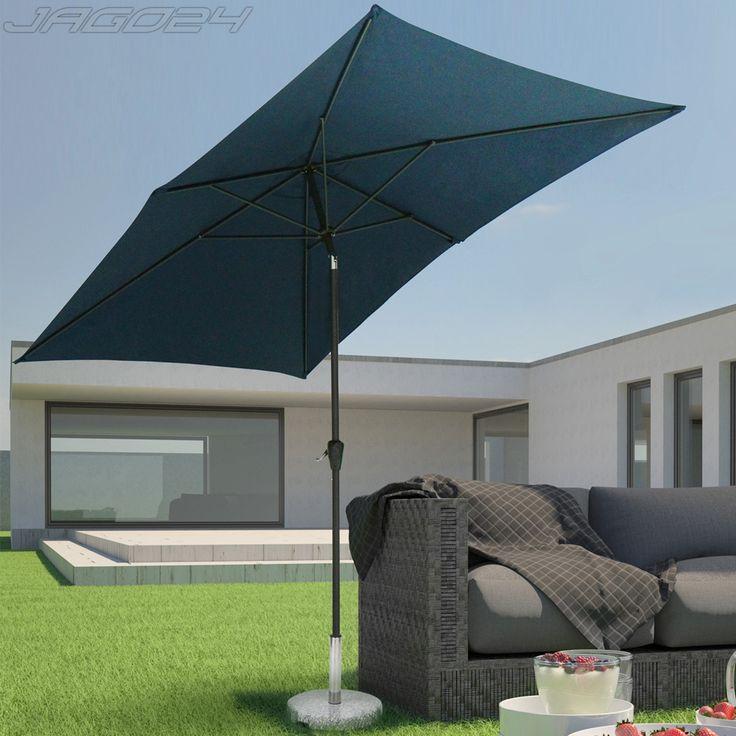 Sonnenschirm-Ampelschirm-Sonnenschutz-Marktschirm-Garten-Strand-Schirm-3-x-2-m