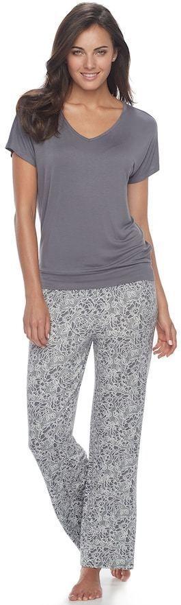 Apt. 9 Women's Apt. 9 Pajamas: Lace Back Tee & Pants PJ Set #affiliate (scheduled via http://www.tailwindapp.com?utm_source=pinterest&utm_medium=twpin)