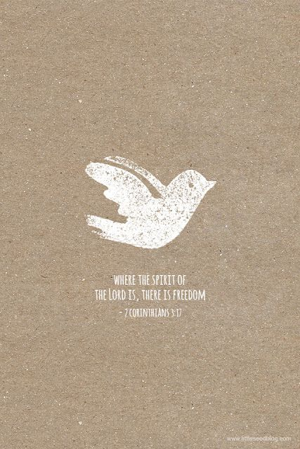 """""""Now the Lord is the Spirit, and where the Spirit of the Lord is, there is freedom."""" — 2 Corinthians 3:17"""