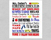 Teacher Retirement Gift- Retirement Gift - Retirement Print -PDF Digital Print