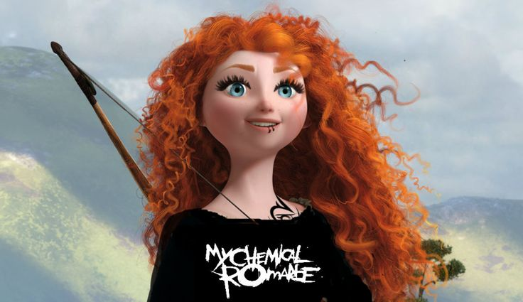 They should totally make punk Disney!! My Chemical Romance shirt!!!!!! YES MERIDA