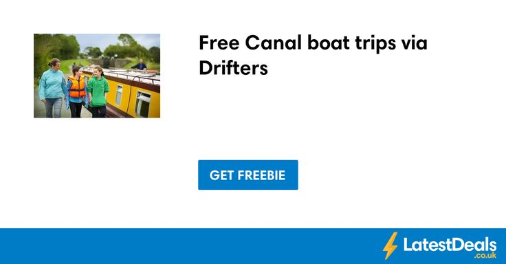 Free Canal boat trips via Drifters
