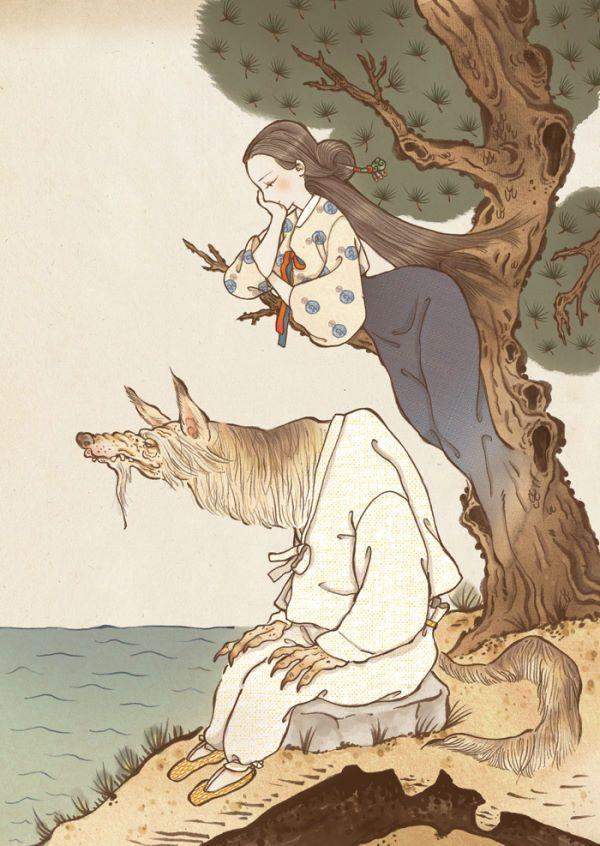 노호정  승려로 둔갑하는 늙은 여우 요괴. 검은 닭과 백마를 즐겨 먹었다고 하며, 뛰어난 언변술을 구사한다.  고려 공민왕 때, 신돈의 정체가 노호정이라는 소문이 돌았다고도 한다.  목신  예부터 오래된 고목에는 신이 깃든다고 여겨졌는데, 이를 목신이라고 한다.  신령한 힘으로 마을을 수호한다고 여겨졌기 때문에, 마을에 재앙이 내린다며 나무를 함부로 베지 않았다.  일부 마을에서는 마을의 안녕을 기원하며 나무에게 공물을 바치고 굿을 지내기도 했다.