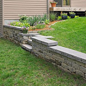 A pleasing decorative feature that's an asset to any yard, it's also a serious retaining wall that will stop an existing hill from sliding, or provide strong support for new landscaping.