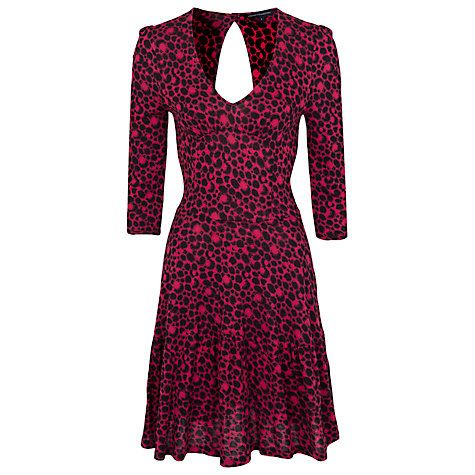 £18 Buy French Connection Amakhala Crepe Dress, Plumpink/Black Online at johnlewis.com