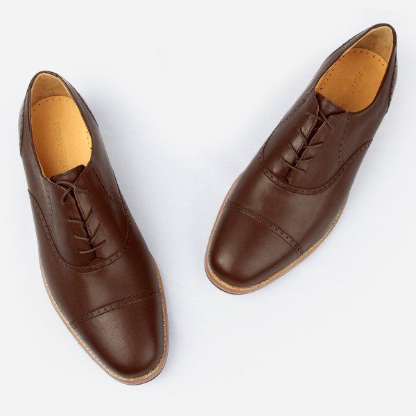 The Toronto Brogue - brown leather brogue mens custom dress shoes - Poppy Barley