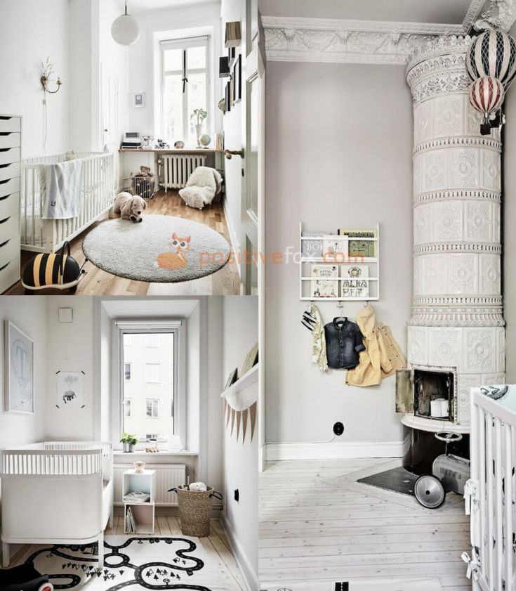 Scandinavian Kids Room Design. Nordic Design Ideas With Best Examples. Explore more Scandinavian Kids Rooms on https://positivefox.com #smallspaceskidsrooms #scandinaviankidsroom #kidsroomideas #scandinaviankidsroomideas #interiordesign #collage #homeideas #homesmallspaces #smallspaces #nordicdesignideas #nordickidsroom #nordicinterior #scandinavianinterior #whitekidsroom