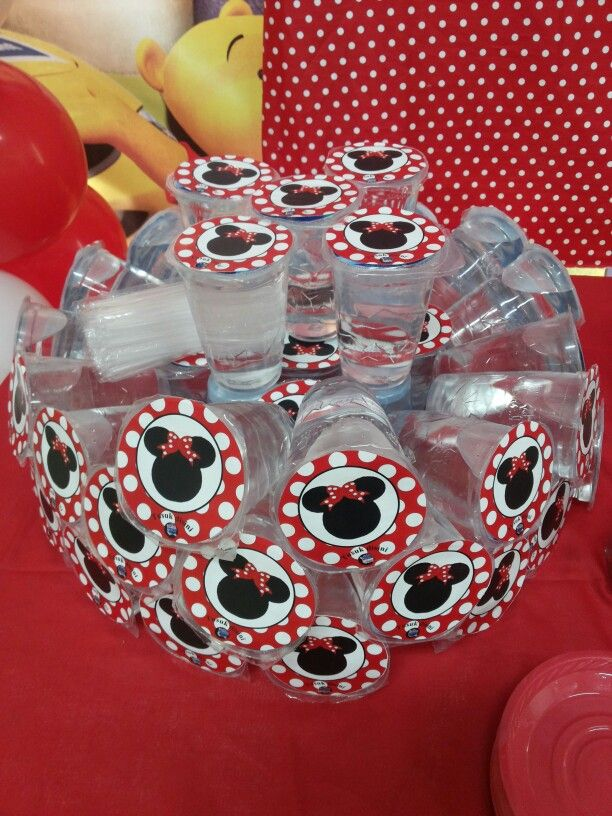 Minnie mouse mineral water