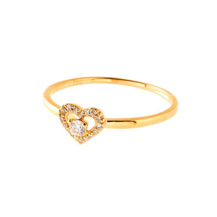 Diamant-Herz-Ring von Rockberries