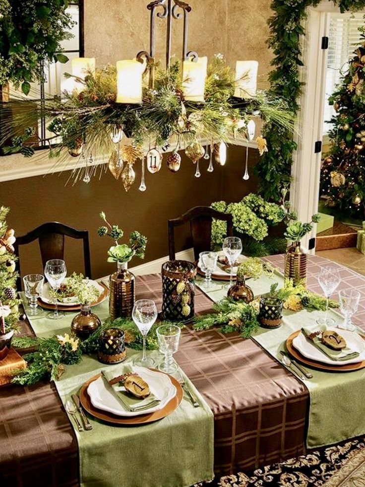 Top 150 Christmas Tables (2/5)🎄 & 1276 best Christmas Table Decorations images on Pinterest ...