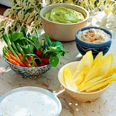 Summer Crudités with Three Dips