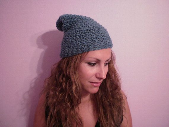 Girly handknitted hat /grey/   size made to by KaterinakiJewelry