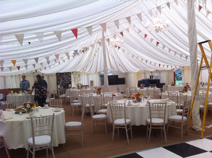 My wedding, vintage, rustic, home made, this is inside the marquee
