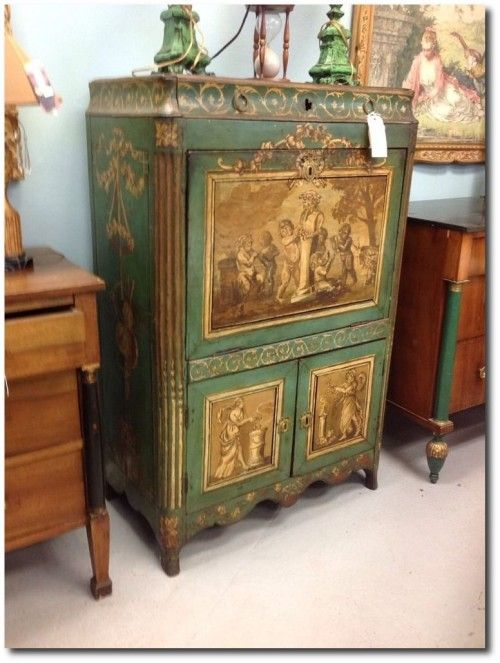 Examples Of Green And Black Painted Furniture French