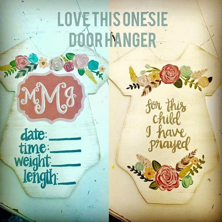 Onesie door hanger for the new baby