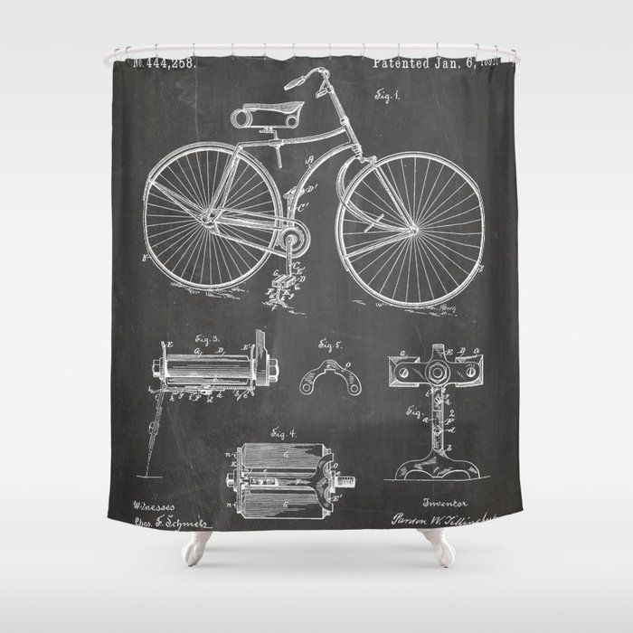 Stop Neglecting Bathroom Decor Our Designer Shower Curtains Bring A Fresh New Feel To An O Black Chalkboard Bathroom Shower Curtains Designer Shower Curtains