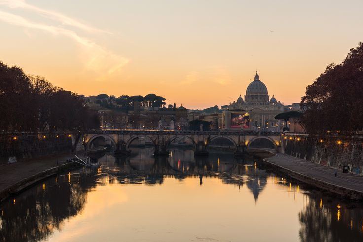Rome - St. Peters December reflection - the best view in the city!