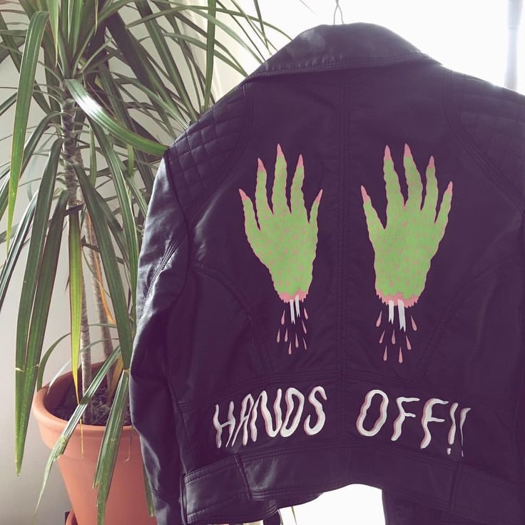 Hand painted jacket by @nataliebeaw is going to be on the shop for sale soon! Stay tuned! ✨